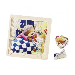 Puzzle Petit Ours, 4 couches